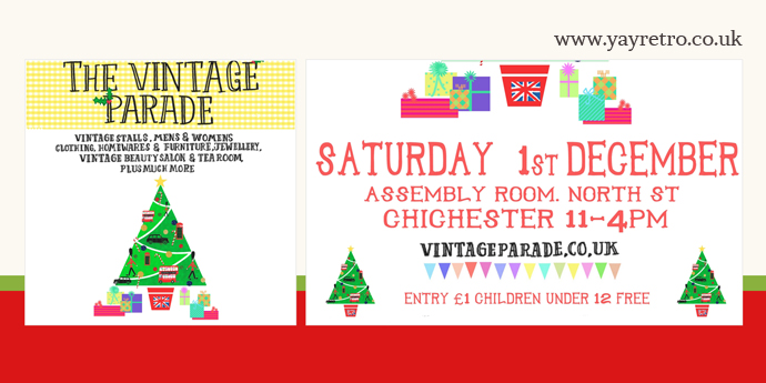 when is the christmas vintage parade in chichester?