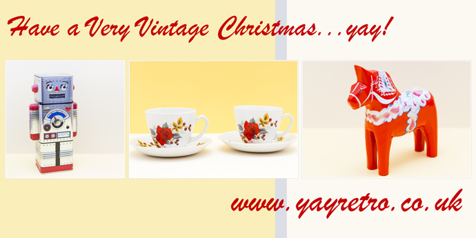 Have a very vintage Christmas with yay retro! online vintage china shop and replacement china site
