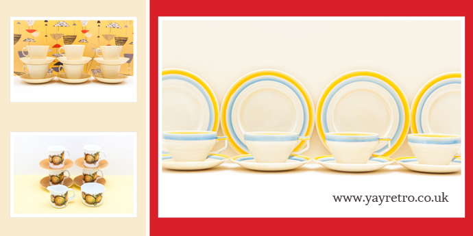 art deco, 50s, 60s, 70s china from yay retro! online china and replacement china shop