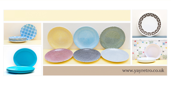 replacement tea plate sets from yay retro! Susie Cooper, Tams, Poole, Empire, Gaydon, Melaware