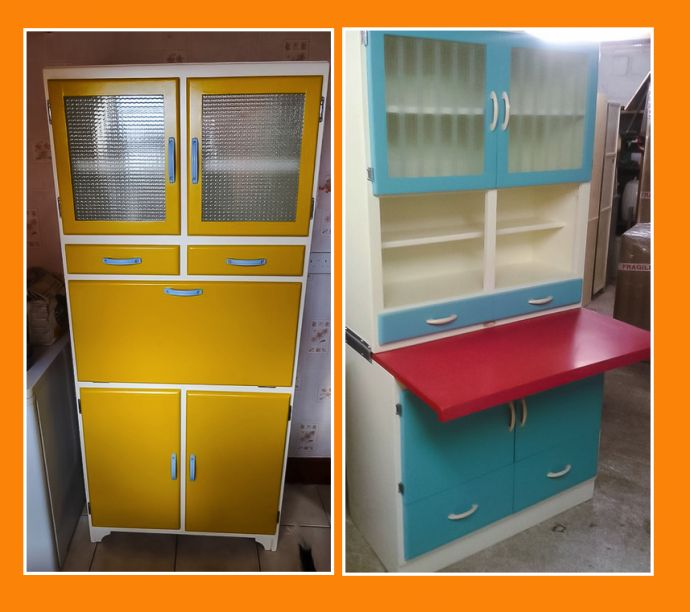 apparently 85  of the kitchen larder units we see today were manufactured in the east end of london  celebrating 1920 60s vintage kitchen cabinets   vintage shop      rh   yayretro co uk