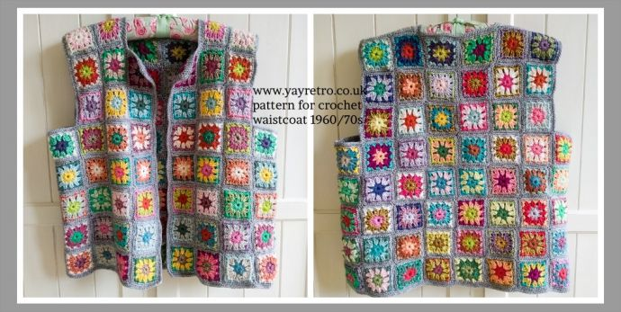 Free Pattern For Crocheted Granny Square Waistcoat 196070s Buy
