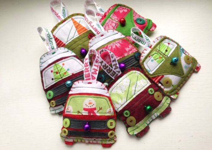 loving these vw camper van christmas decorations