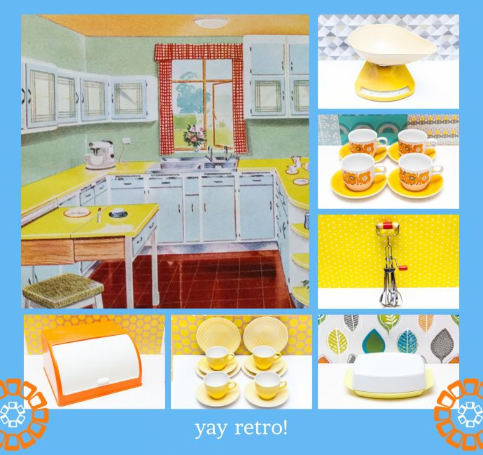60s styled kitchen by shopping at yay retro vintage shop retro