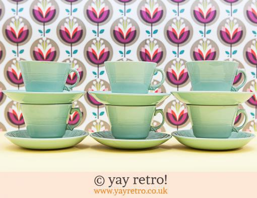 58: Beryl Cups, Saucers, & Sugar Bowl (£0.00)