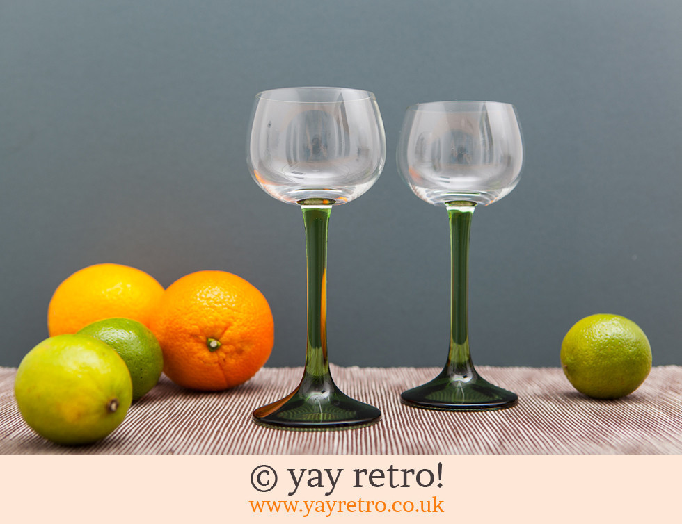 Tall Stemmed 70 S Wine Glasses Vintage Shop Retro China