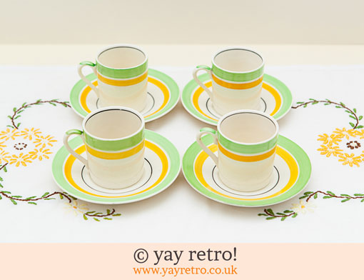 8: Sunny Coffee Set, Jug and Sugar Bowl (£)