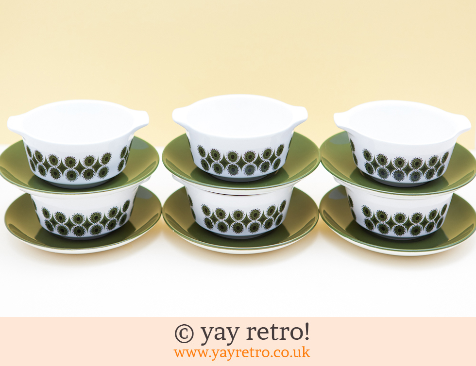 70s Soup Bowls and Plate Set (£15.00)