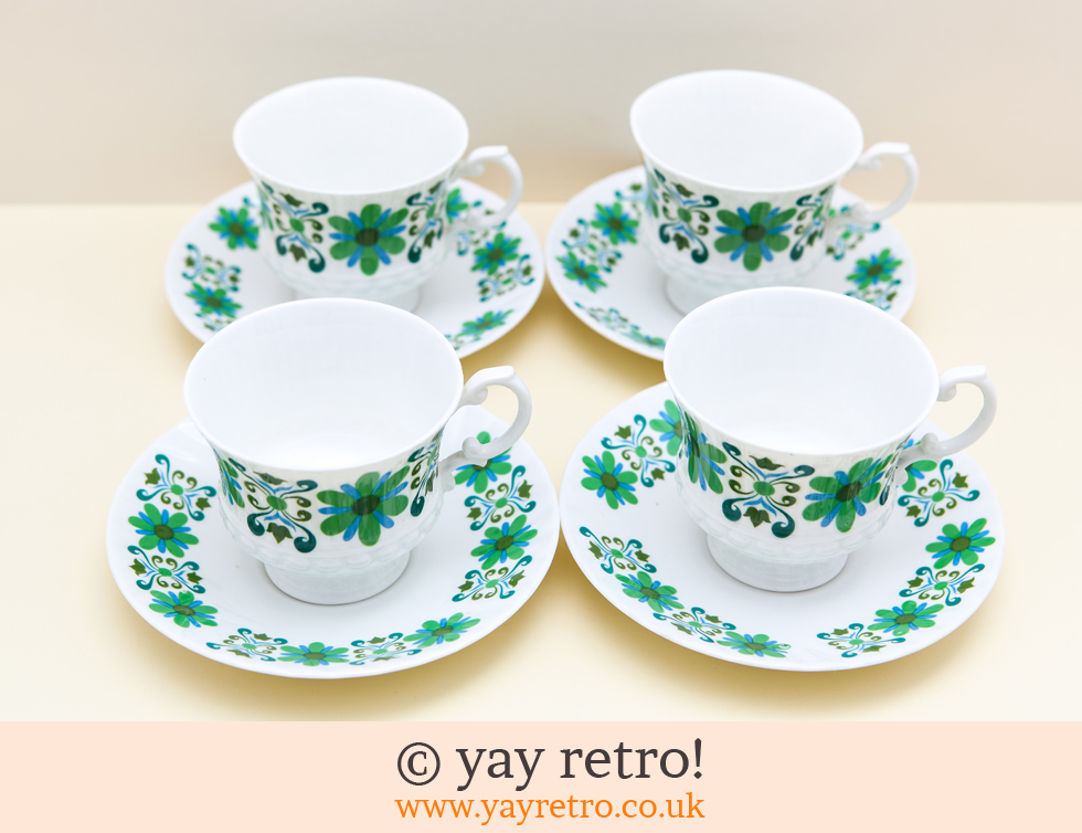 Floral Brights Cups & Saucers (£14.00)