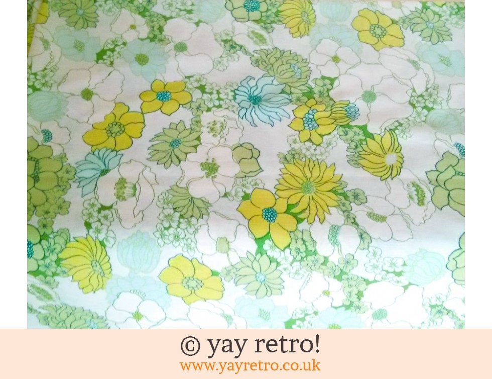 Vintage Green Flowery Double Sheet (£12.75)