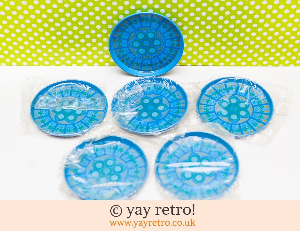 Worcester Ware: Turquoise Pat Albeck 1960s Coasters x 6 (unopened packs) (£19.00)