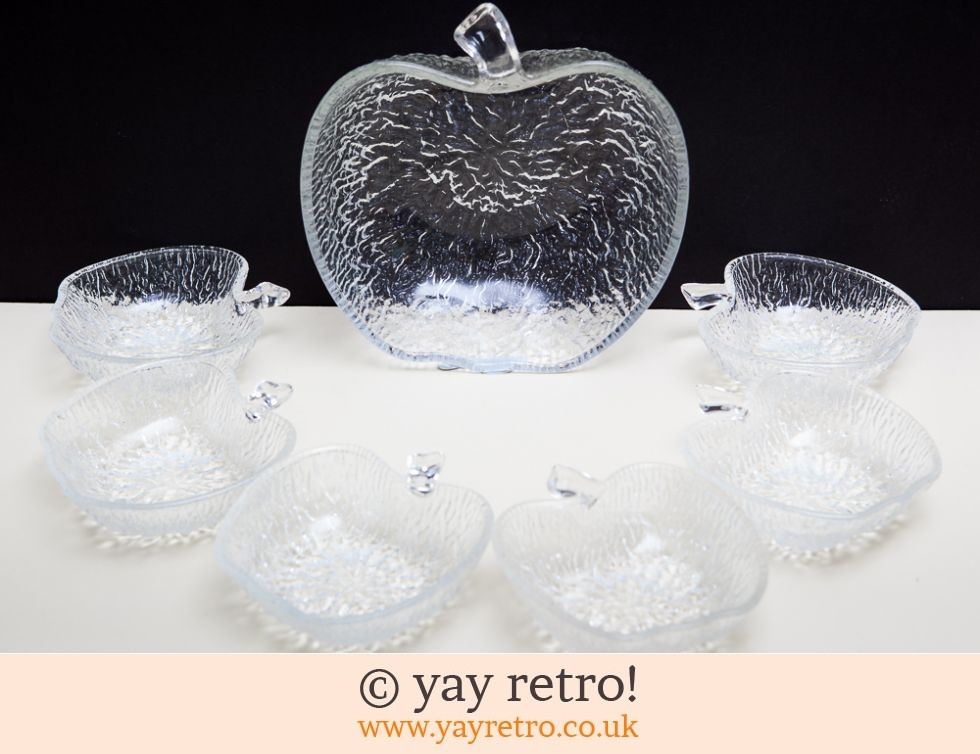 italian apple glass vintage sundae dishes vintage shop retro china glassware kitchenalia. Black Bedroom Furniture Sets. Home Design Ideas