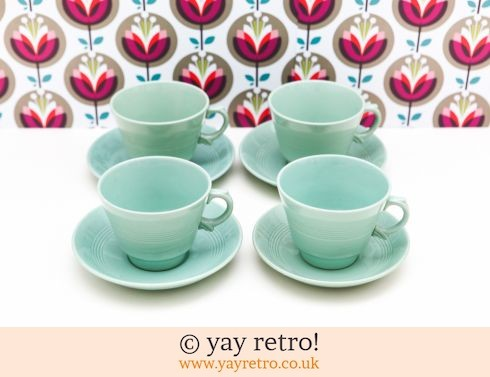58: Extra Large Beryl Cups & Saucers (£32.00)