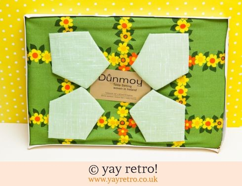 179: 1960s Flowery Tablecloth & Napkin set (£19.50)