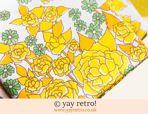 0: 2 Vintage Yellow Rose Pillow Cases (£8.00)
