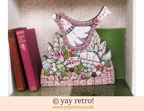 140: Large Mosaic Bird Wall Plaque (£62.00)