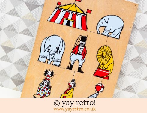 365: Vintage Wooden Circus Jigsaw (£10.00)