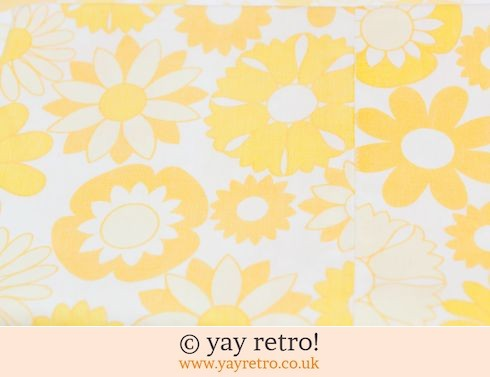 0: Yellow Flowery Vintage Sheet & Pillow Case (£10.95)