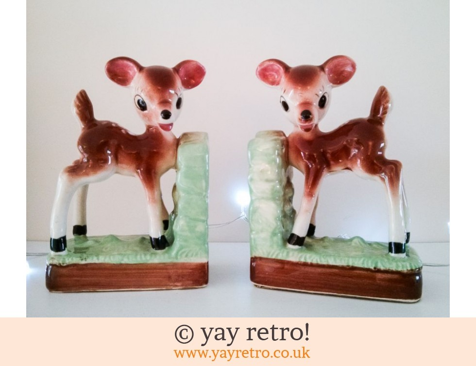 Large Rare Vintage Deer Bookends 50/60s (£42.00)