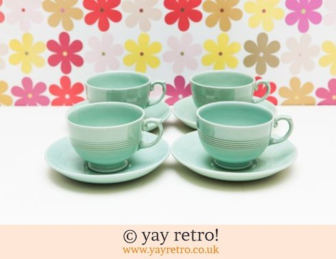 Curvy Rare Beryl Cups and Saucers (£50.00)