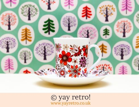 38: 1960s Red Carnaby Cup and Saucer (£7.50)