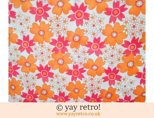 0: Orange & Pink Daisy Double Vintage Sheet - as new (£25.00)