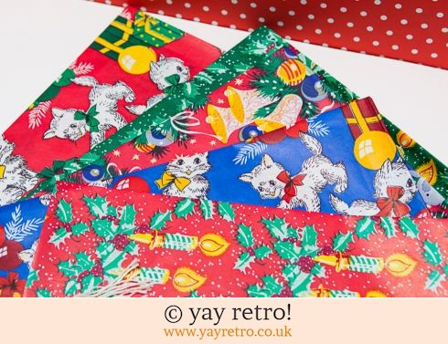 0: Vintage Xmas Wrapping Paper + free tags (£10.00)