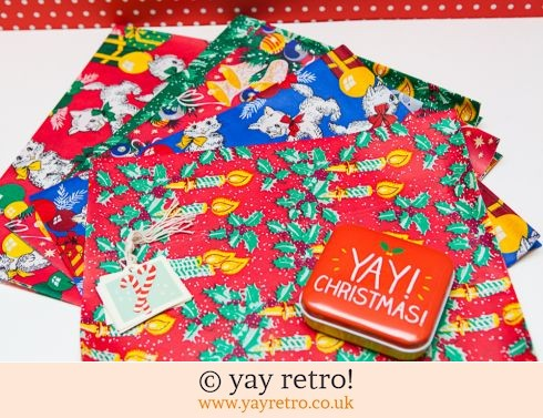 Vintage Xmas Wrapping Paper + free tags (£10.00)
