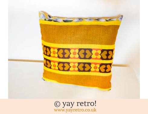0: Scandi Yellow Vintage Cushion (£12.00)