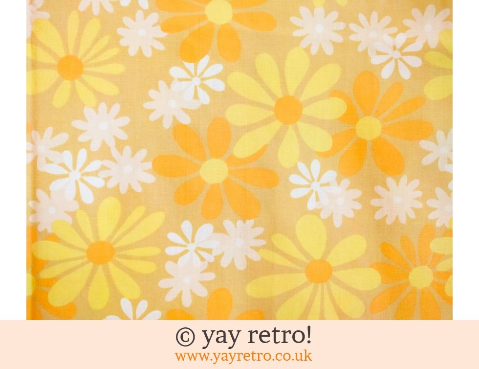 Yellow Vintage Daisy Single Sheet (£17.50)