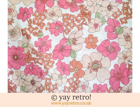 0: Vintage Single Bed Flower Power Sheet (£9.50)