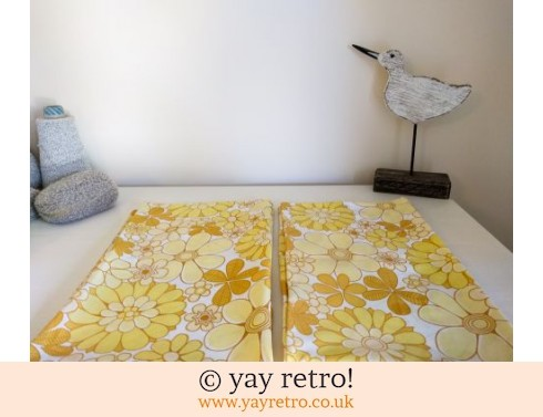 248: Rare Yellow Flowery Vintage Pillowcases (£14.00)