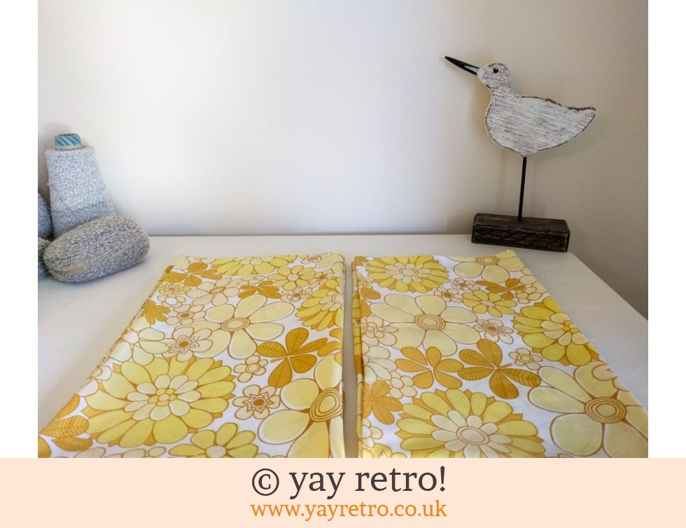 Marks & Spencer: Rare Yellow Flowery Vintage Pillowcases (£14.00)