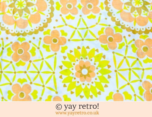 0: Unused Vintage Yellow Flower Double Sheet (£28.50)