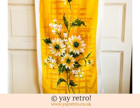 Yellow Flowery 70s Tea Towel (£5.00)