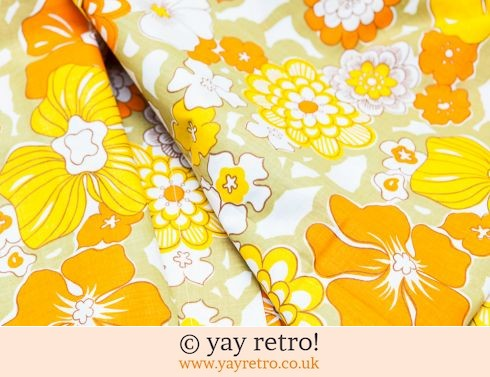 648: Yellow & Orange Flower Power Double Sheet - Unused (£28.75)