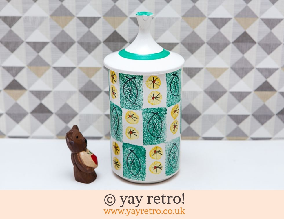 Arthur Wood Storage Jar Pointy Lid Vintage Shop Retro China