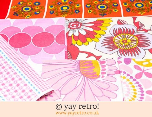 0: Red & Pink 60/70s Scrap Pack (Large & Small pieces) (£9.25)