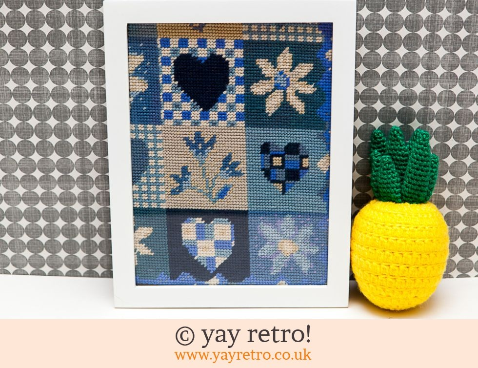 Scandi Style Hearts & Flowers Framed Picture (£8.00)