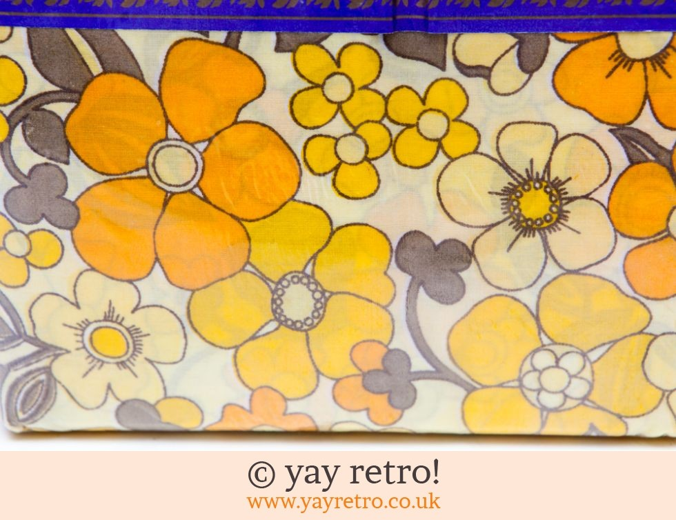 Vantona: Yellow & Orange Daisy Vintage Double Sheet - Unused (£28.50)