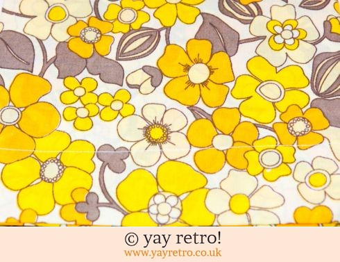 0: Yellow & Orange Daisy Vintage Pillowcases - Unused (£12.75)