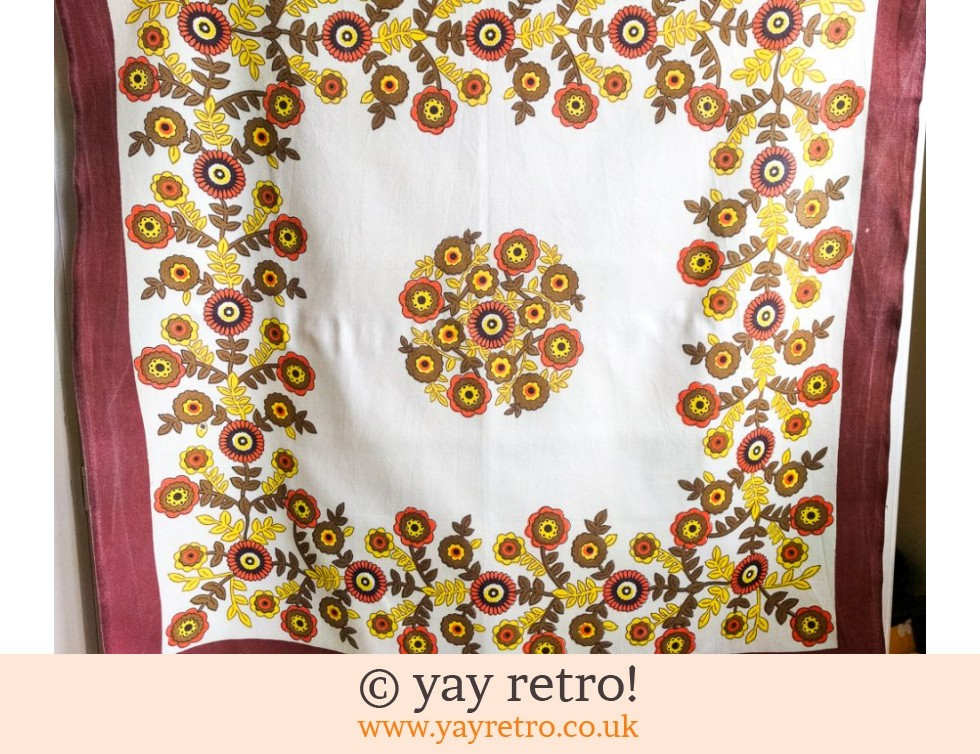 Orange Flower Power Tablecloth (£8.95)