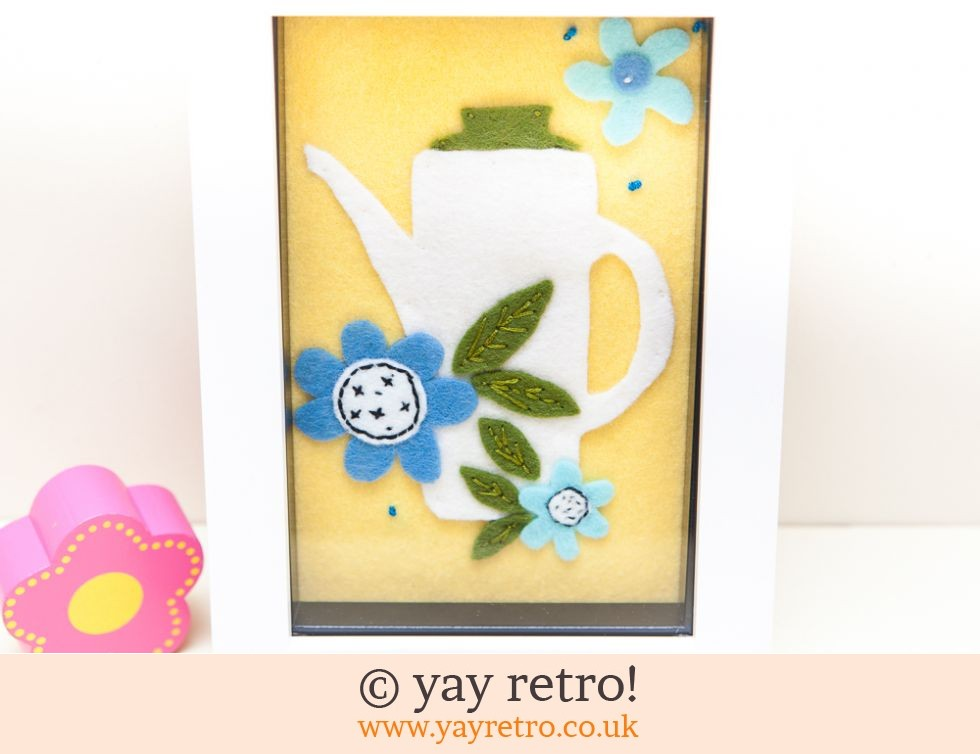 Meakin Coffee Pot Flower Power Felt Picture 6 x 4 (£14.50)
