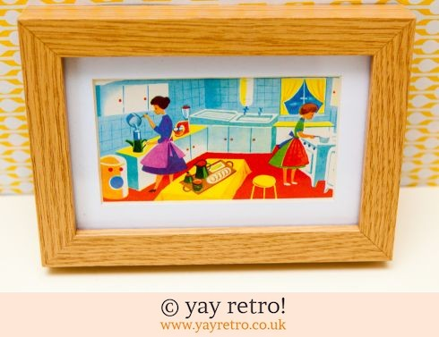 0: 1960s Kitchen Framed Illustration (£14.50)