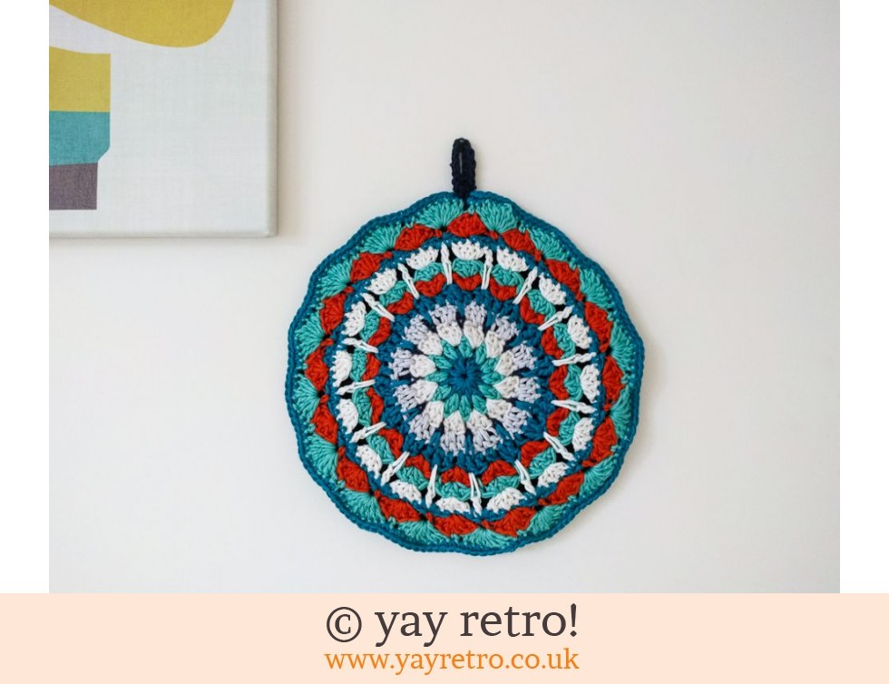 70s Inspired Crochet Mandala Pot Holder (£12.95)