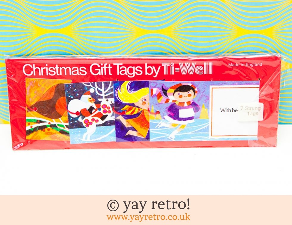 Ti-well: Genuine Vintage Gift Tags x7 unused pack (£4.00)