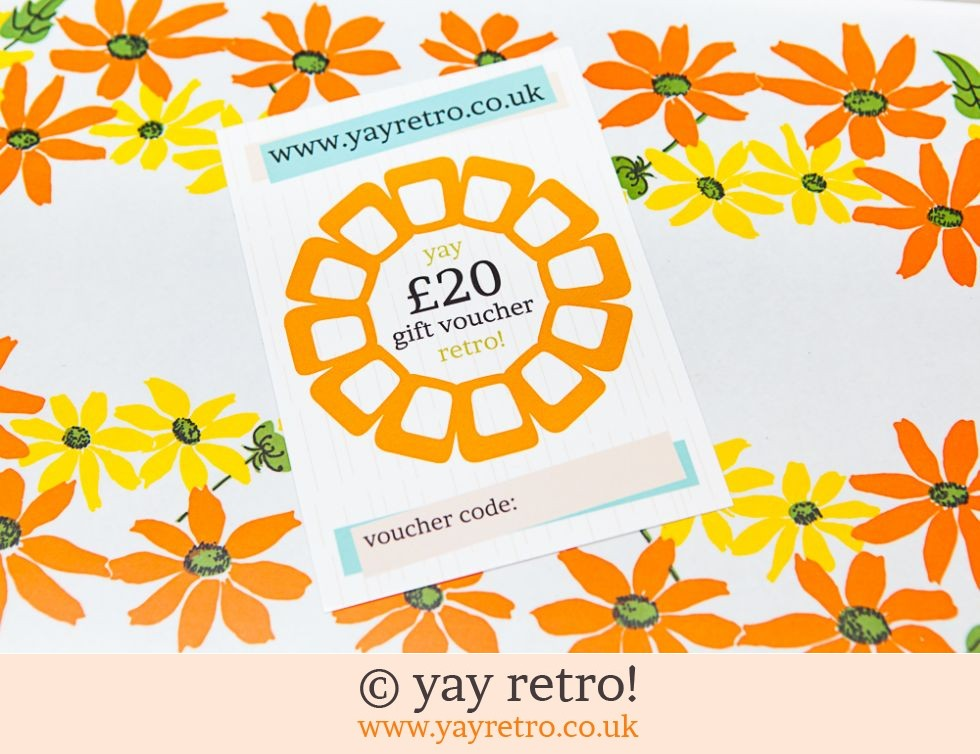 yay retro!: £20 yay retro! Gift Voucher with postage (£22.00)