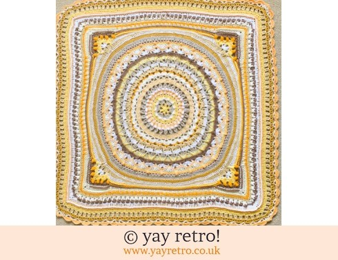 152: Stunning 'Lemon Meringue' Crochet Blanket (£40.00)