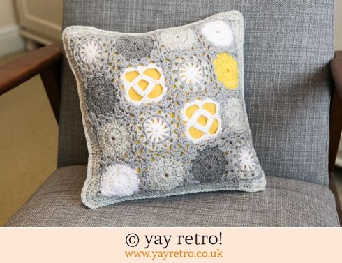152: Crochet Cushion - Scandi Winter Sun (£22.00)