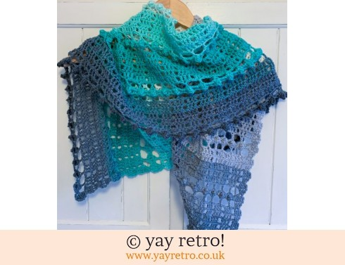 152: 'Mint Cake' Crochet Shawl / Wrap (£32.50)